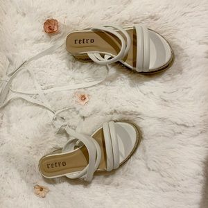 nasty gal white platforms • size 6